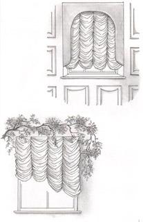 Фестонные шторы