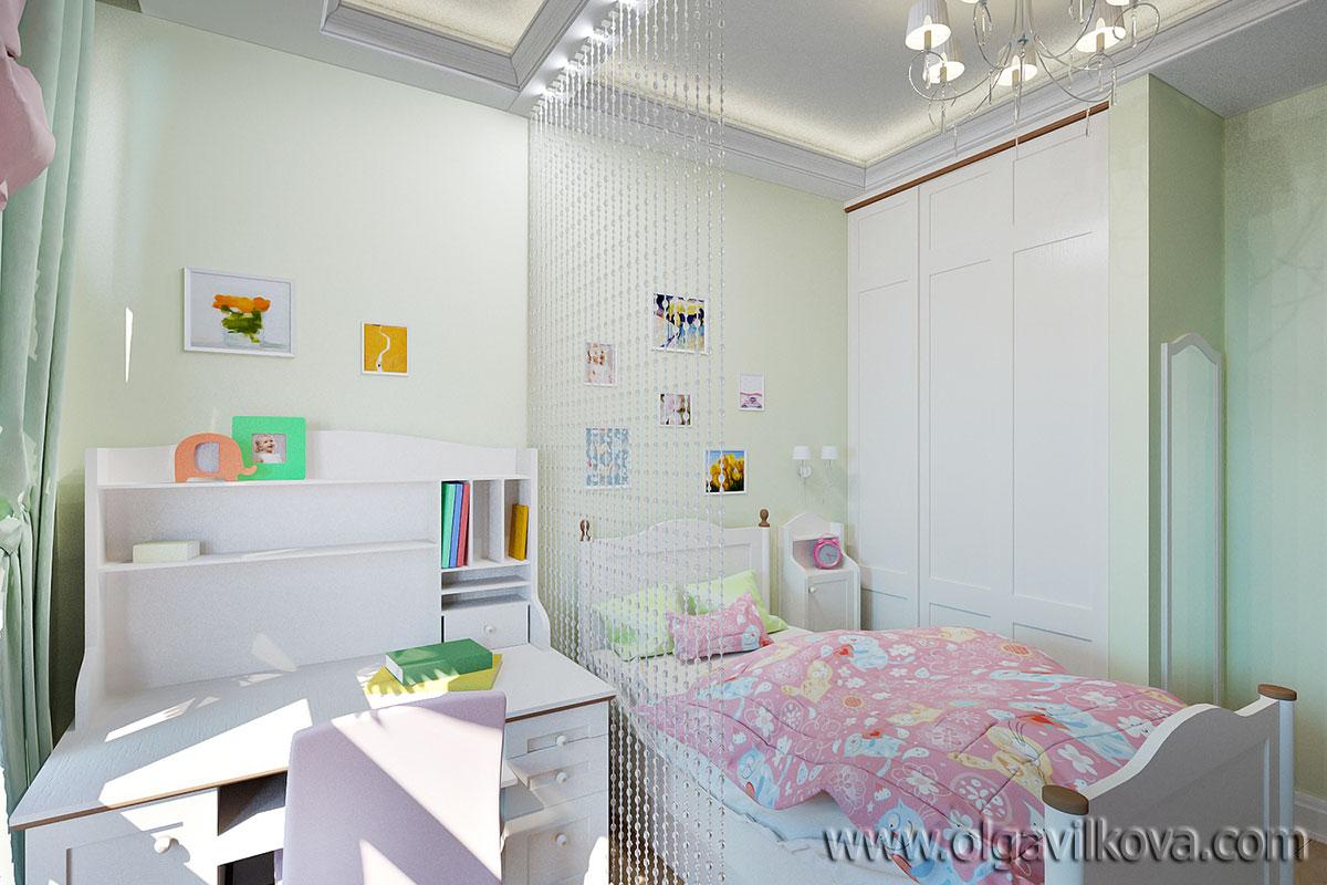 Дизайн интерьера детской для девочки. Одесса
