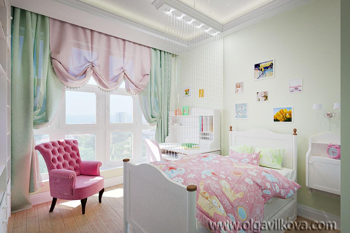 Дизайн интерьера детской. Одесса