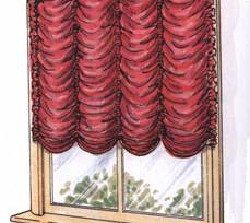 Французские шторы в дизайне интерьера