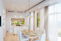 Белая современная кухня. Одесса